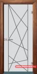 Стъклена врата модел Gravur 13-5 – Златен дъб