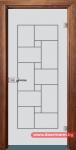 Стъклена врата модел Gravur 13-7 – Златен дъб