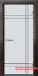 Стъклена врата модел Gravur 13-8 – Венге