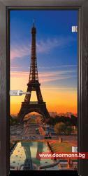 Стъклена врата модел Print 13-12 - Венге