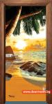Стъклена врата модел Print 13-14 – Златен дъб