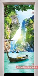 Стъклена врата модел Print 13-15