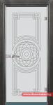 Стъклена врата модел Sand 14-8 – Сив кестен